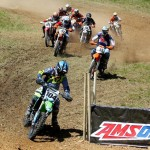 My man Billy Schlag grabbing the holeshot at Mason Town GNCC 2014 (#418/104)