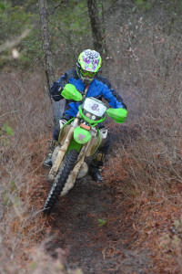 Lissa at the Sandy Lane Enduro in 2015