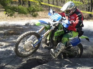 Lissa at Curly Fern Enduro in 2007