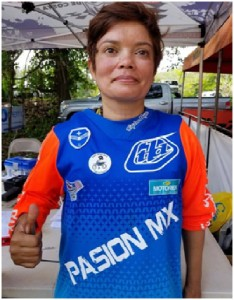 Pasion MX Manager Marisol Rios Reid #77 Giving a thumbs up and sporting a new DBGA patch!