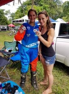 Melissa Tencio receiving a DBGA decal straight from USA's Samantha Kilgore!