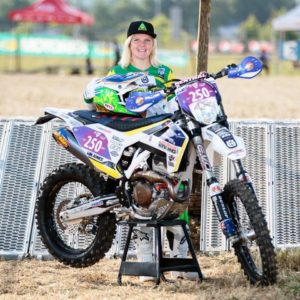 Tayla ready race ready for the start of the 2017 ISDE