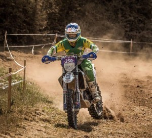 Tayla hammering at the ISDE
